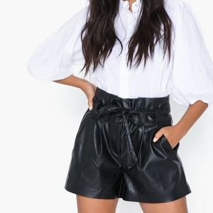 ONLY faux leather shorts